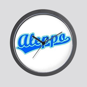 Retro Aleppo (Blue) Wall Clock