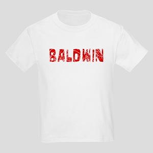 Baldwin Faded (Red) Kids Light T-Shirt