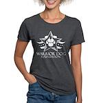 White Logo Womens Tri-Blend T-Shirt
