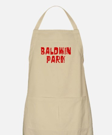 Baldwin Park Faded (Red) BBQ Apron