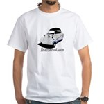 White/Blue Messerschmitt Deluxe2 White T-Shirt
