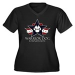 Tri Logo Women's V-Neck Dark Plus Size T-Shirt