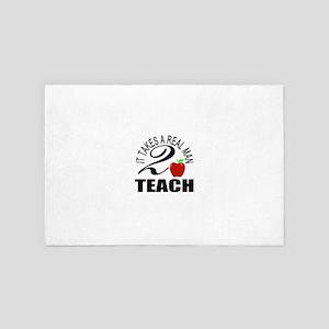 Teaching is tough 4' x 6' Rug