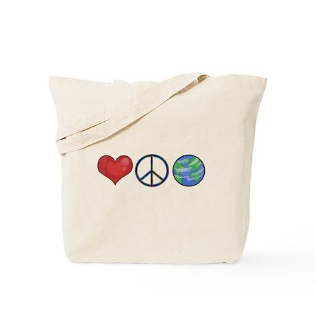 Love Peace Earth Tote Bag