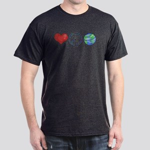 Love Peace Earth Dark T-Shirt