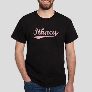 Vintage Ithaca (Pink) Dark T-Shirt