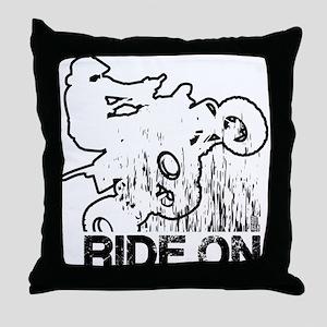 Ride On ATV Quad Throw Pillow