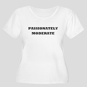 'Passionately Moderate' Women's Plus Size Scoop Ne