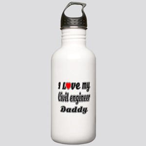 I Love My CIVIL ENGINE Stainless Water Bottle 1.0L