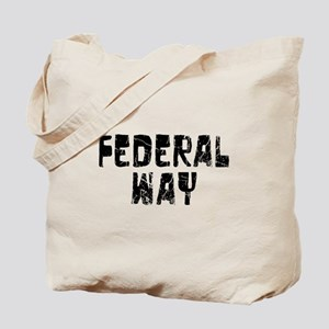 Federal Way Faded (Black) Tote Bag