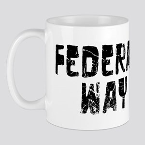 Federal Way Faded (Black) Mug