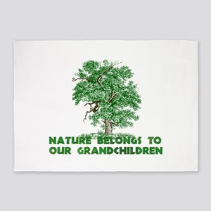 Nature Belongs to Grandchildren 5'x7'Area Rug