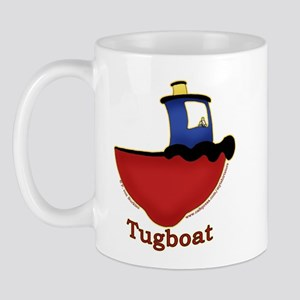 Cute Tugboat Picture Mug