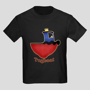 Cute Tugboat Picture Kids Dark T-Shirt