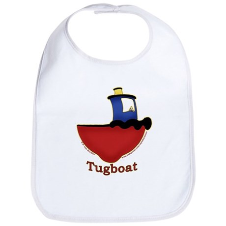 Cute Tugboat Picture Bib