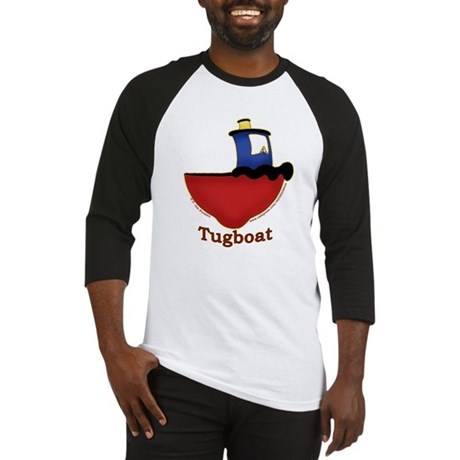 Cute Tugboat Picture Baseball Jersey