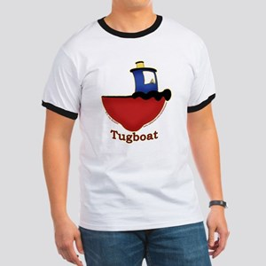 Cute Tugboat Picture Ringer T