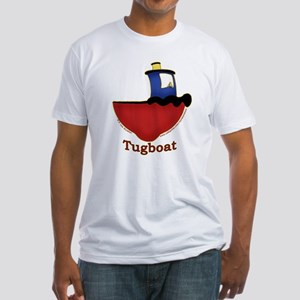 Cute Tugboat Picture Fitted T-Shirt