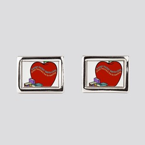 Teacher saying Rectangular Cufflinks