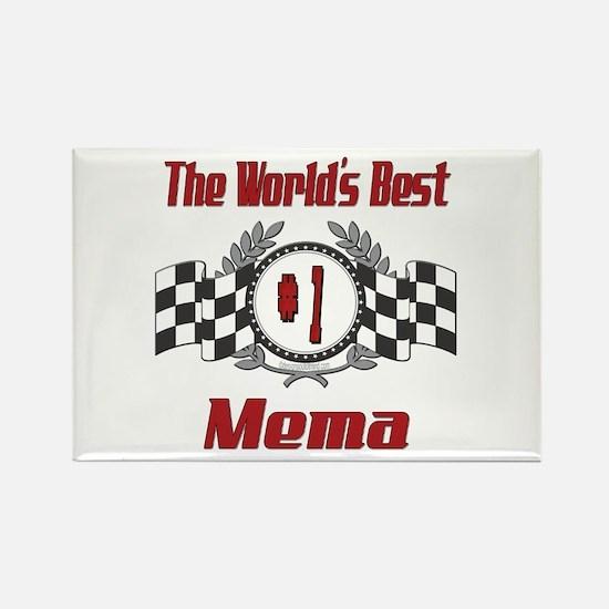 Racing Mema Rectangle Magnet (100 pack)