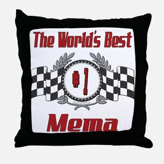 Racing Mema Throw Pillow
