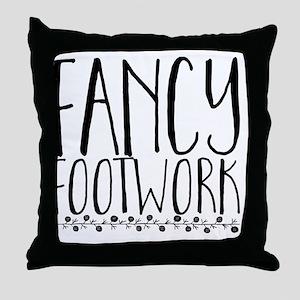 fancy footwork Throw Pillow