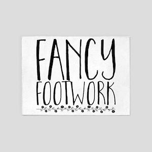 fancy footwork 5'x7'Area Rug