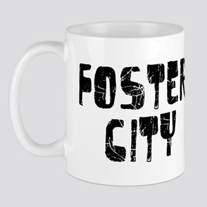 Foster City Faded (Black) Mug