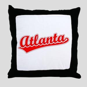 Retro Atlanta (Red) Throw Pillow