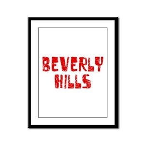 Beverly Hills Faded (Red) Framed Panel Print