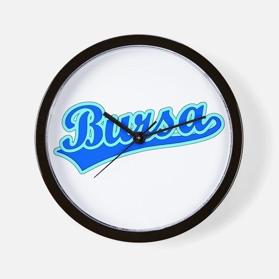 Retro Bursa (Blue) Wall Clock