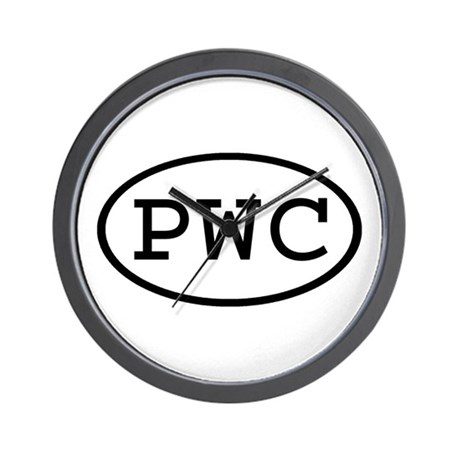 PWC Oval Wall Clock