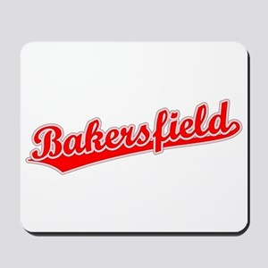 Retro Bakersfield (Red) Mousepad