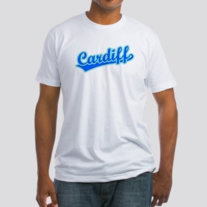 Retro Cardiff (Blue) Fitted T-Shirt