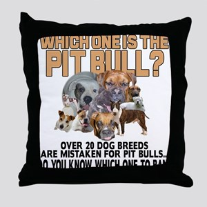 Find the Pit Bull Throw Pillow