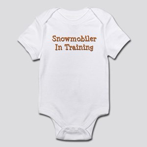 Snowmobiler In Training Infant Bodysuit
