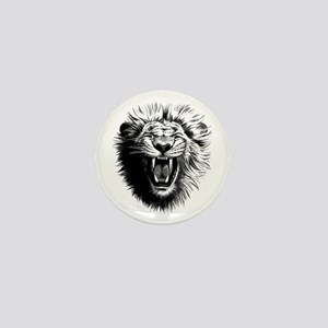 Lion drawing Mini Button