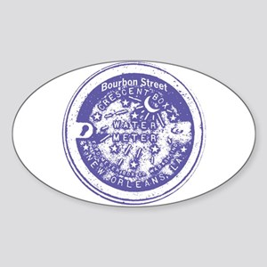 Bourbon St Water Meter Lid Oval Sticker