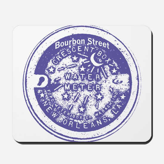 Bourbon St Water Meter Lid Mousepad