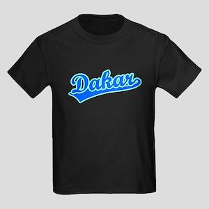 Retro Dakar (Blue) Kids Dark T-Shirt