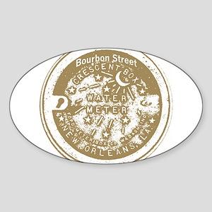 Water Meter Lid Bourbon St Ta Oval Sticker