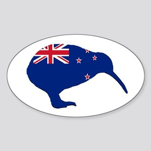 New Zealand Kiwi Oval Sticker