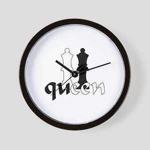chess queen Wall Clock