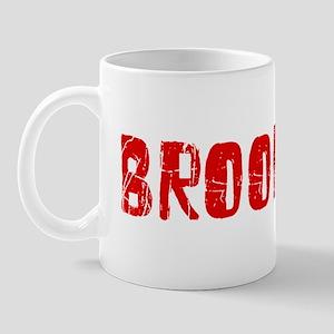 Brookings Faded (Red) Mug