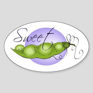 Sweet Baby Pea Oval Sticker