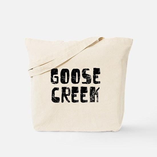 Goose Creek Faded (Black) Tote Bag
