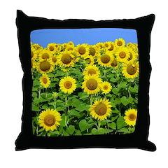 Sunflower Cluster Throw Pillow