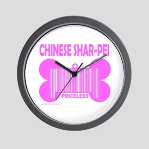 CHINESE SHAR-PEI PRICELESS Wall Clock