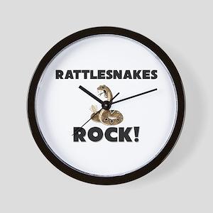 Rattlesnakes Rock! Wall Clock