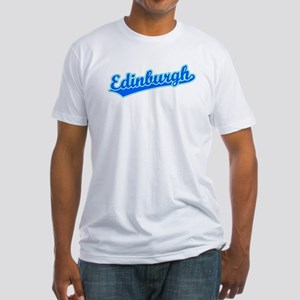 Retro Edinburgh (Blue) Fitted T-Shirt